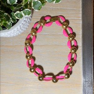 Kate Spade Gold and Hot Pink Necklace
